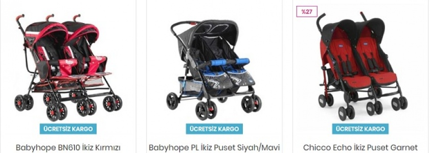 İkiz Bebek Arabası
