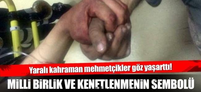 """Yaralanan Mehmetçikten Öğüt Dolu Sözler """"Biz Ayaktayız, Bayrak İnmesin"""""""