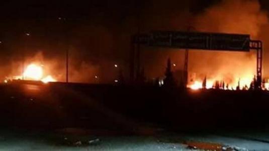 Son Dakika.. İsrail Esed'in Karargahlarını Vurdu! Şiddetli Patlamalar