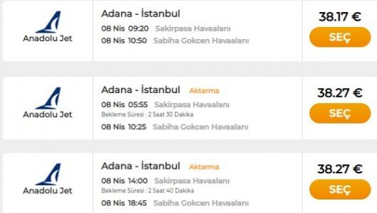 Kayseri İstanbul Uçak Bileti