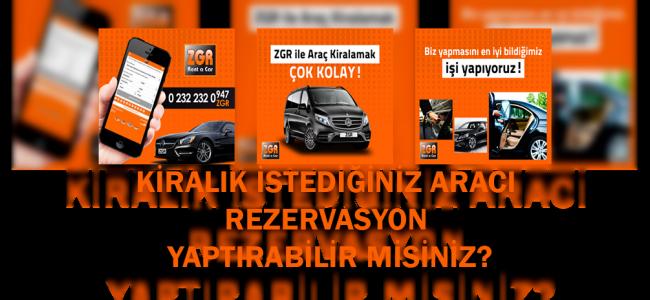 İzmir'de ArabaZGR'den Kiralanır