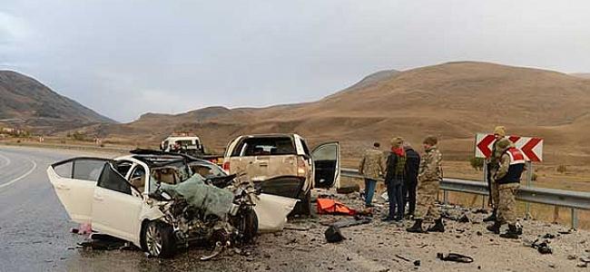 Van'da büyük kaza