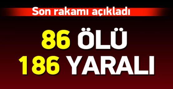 Ankara'daki Patlamada 86 Kişi Hayatını Kaybetti, 18'i Ağır 186 Yaralı