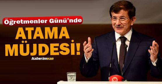 Başbakan'dan Öğretmenler Günü'nde Atama Müjdesi