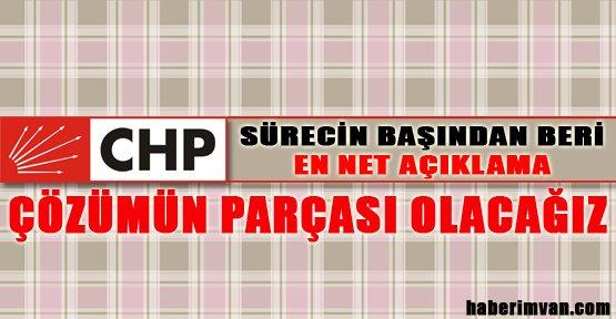 CHP De Sürece Destek Olacak