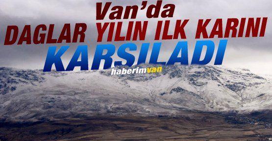 Erek Dağı Yılın İlk Karını Karşıladı