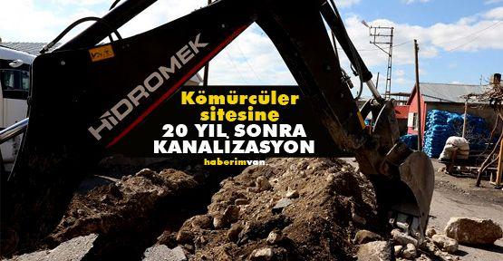 Kömürcüler Sitesi 20 Yıl Sonra Kanalizasyona Kavuştu