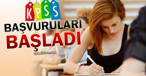 KPSS Ön lisans Ve Orta öğretim Başvuruları Başladı