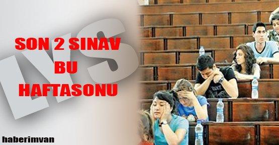 LYS'de Son İki Sınav Hafta sonu