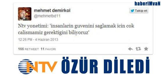 NTV Özür Diledi