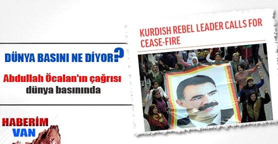 Öcalan'ın çağrısı dünya basınında