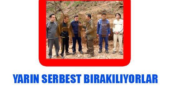 PKK'nin Elindeki İsimler Yarın Serbest