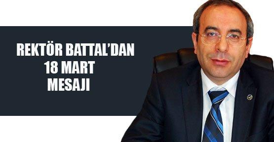 Rektör Battal'dan 18 Mart Mesajı - Van Haberleri