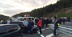 Beykozlular Yaşanan Kazalara Tepki Olarak Yolu Kapattı