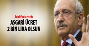 """CHP Lideri Kemal Kılıçdaroğlu: """"Asgari ücret 2 Bin TL olsun"""""""