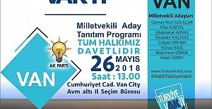 Ak Parti'den Van Halkına Davet.. Aday Tanıtım Programı
