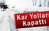 Kar Yağışı Van'da Köy Yollarını Kapattı