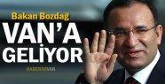 Adalet Bakanı Bozdağ Van'a Gelecek
