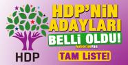 HDP'nin Milletvekili Adayları Tam Listesi...