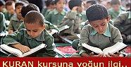 Öğrencilerden Kuran kursuna büyük ilgi