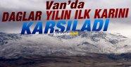 Van'da Dağlar Yılın İlk Karını Karşıladı
