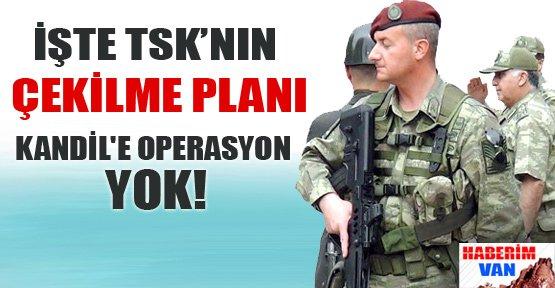 TSK'nın Çekilme Planı