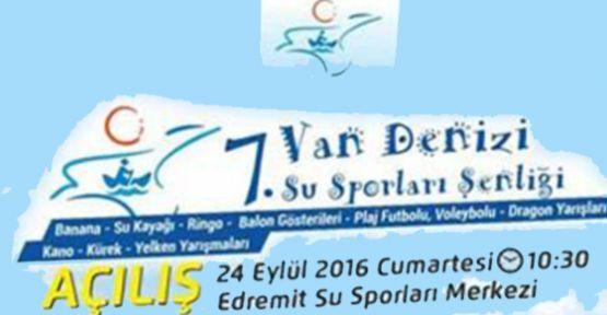 Van EdremitSu Sporları Festivali Ertelendi