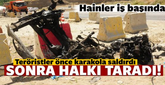 Van Gürpınar'da Dün gece Karakola Yapılan Bombalı Saldırının Görüntüleri Ortaya Çıktı