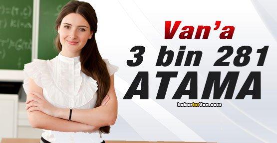 Van'a 3 Bin 281 Öğretmen Ataması