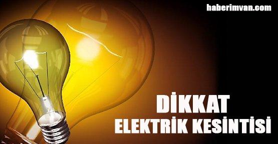Van'da Elektrik Kesintisi Uygulanacak - Van Haberleri
