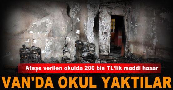 Van'da Kürt Öğrencilerin Eğitim Gördüğü Okulu Yaktılar! Maddi Zarar Çok Büyük Eğitime Engel!
