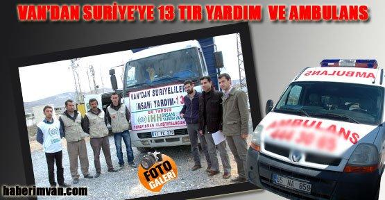 Van'dan Suriye'ye İlaç Ve Ambulans - Van Haberleri