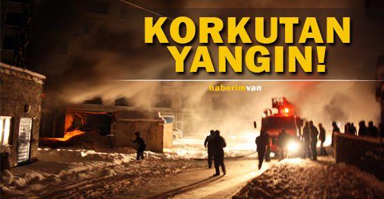 Yüksekova'da Korkutan Yangın!