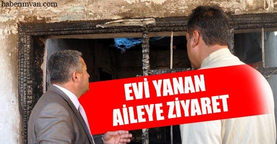 Abdullah Aras'tan Evi Yanan Aileye Ziyaret