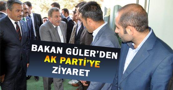 Bakan Güler'den Ak Parti Binasına Ziyaret