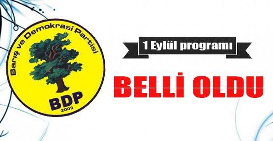 BDP'nin 1 Eylül programı belli oldu