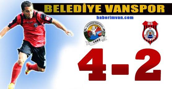 Belediye Vanspor Bafraspor'u 4-2 Mağlup Etti