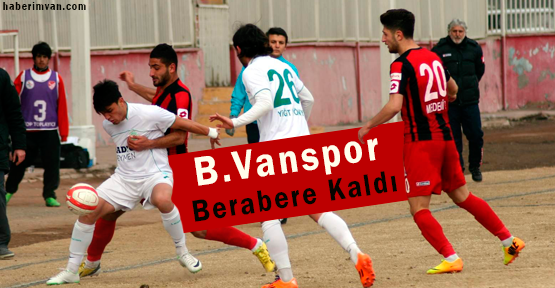 B.Vanspor Şekerspor: 0-0