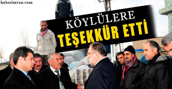 Osman Gülaçar'dan Köylülere Teşekkür