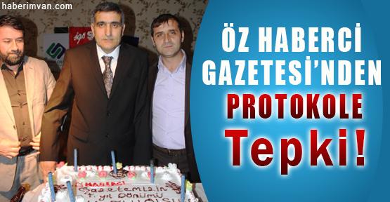 7. Yılını Kutlayan Öz Haberci Gazetesi'nden Protokole Tepki