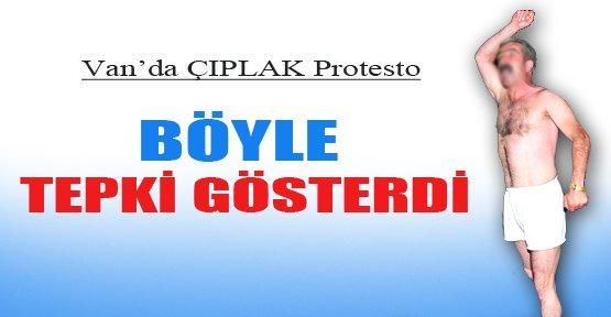 Van'da Çıplak Protesto