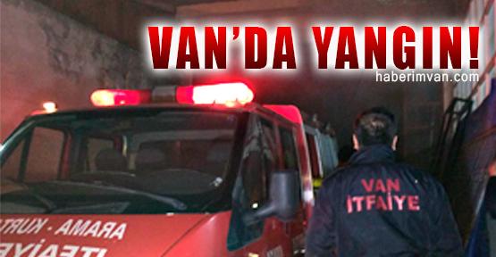 Van'da İş Yeri Yangını