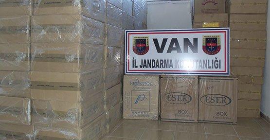 Van'da 1 Milyon Paket Kaçak Sigara - Van Haberleri