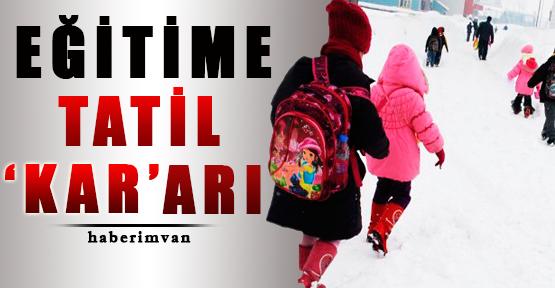 Van'da Okullara Tatil Yağdı