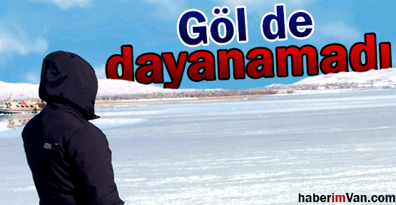 Van'da Soğuklar Erçek Gölü'nü Dondurdu