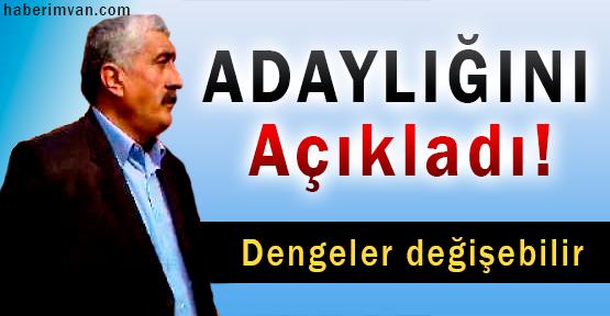 Yahya Ertaş Çatak'ta Bağımsız Aday Olduğunu Açıkladı