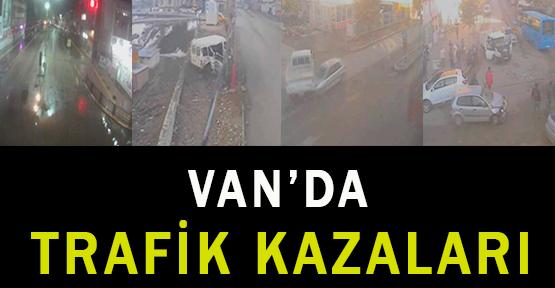 Van'da Vagis Kameralarına Takılan Kazalar